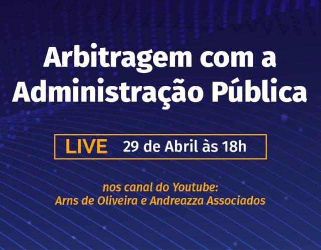 Live sobre arbitragem na Administração Pública