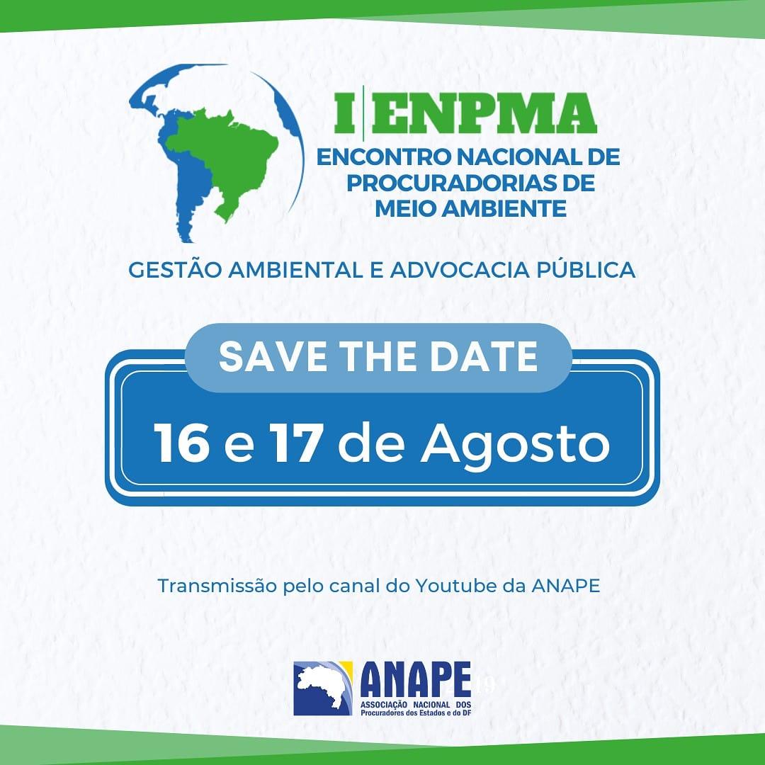 Em agosto será realizado o I Encontro Nacional de Procuradorias de Meio Ambiente