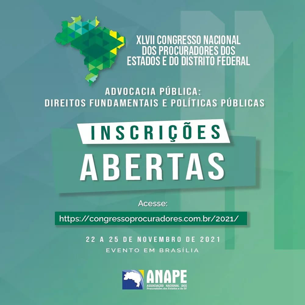 APEP custeará inscrições e passagens para o XLVII Congresso Nacional dos Procuradores dos Estados e do Distrito Federal