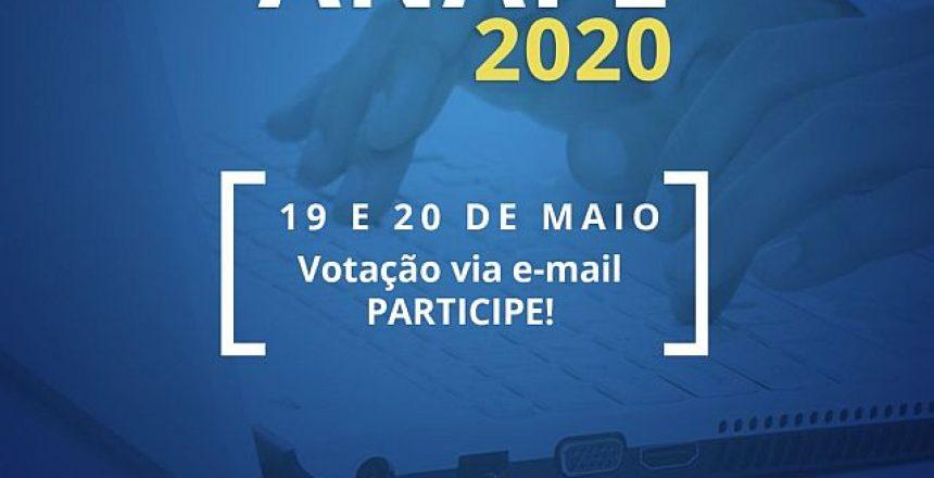 05.05.20 - Anape realiza eleição da nova gesta nos dias 19 e 20 de maio1