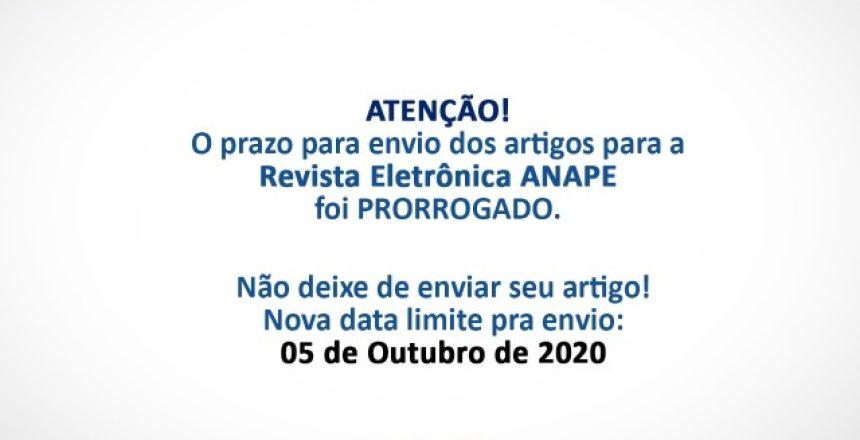 14.09.20 - ANAPE prorroga prazo de envio de arrtigos para revista 1