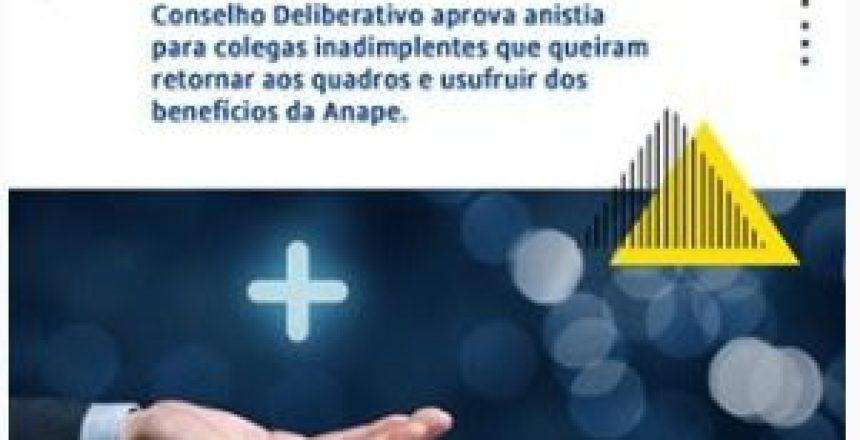 16.07.20 - ANAPE concede anistia a procuradores inadimplentes