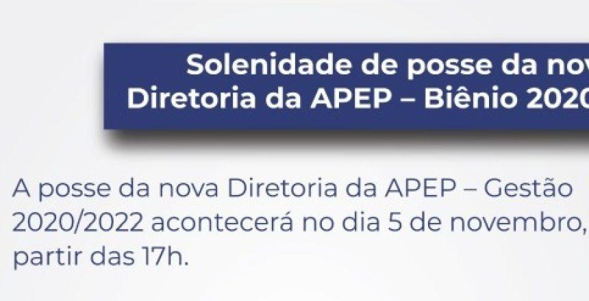 22.10.20 - Solenidade de posse nova Diretoria - Biênio 2020_2022 destaque