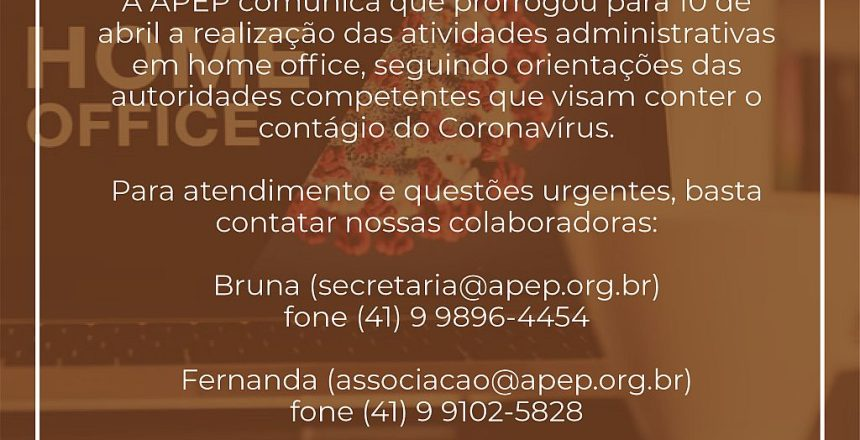 27.03.20 - Comunicado da APEP
